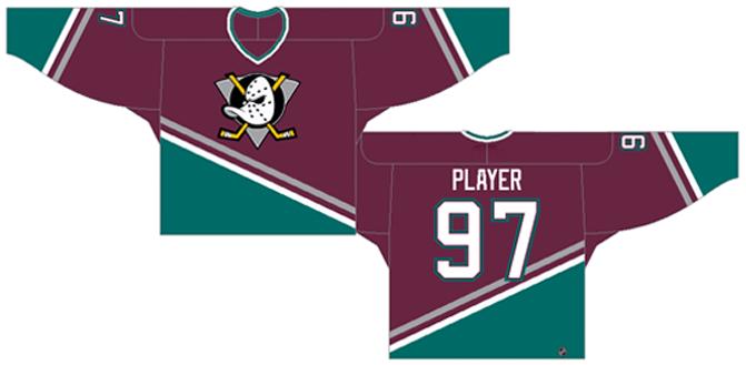 Mighty Ducks of Anaheim Uniform Dark Uniform (1993/94-1994/95) -  SportsLogos.Net