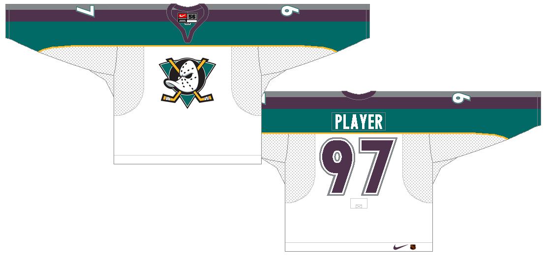 Mighty Ducks of Anaheim Uniform Alternate Uniform (1997/98-1999/00) -  SportsLogos.Net