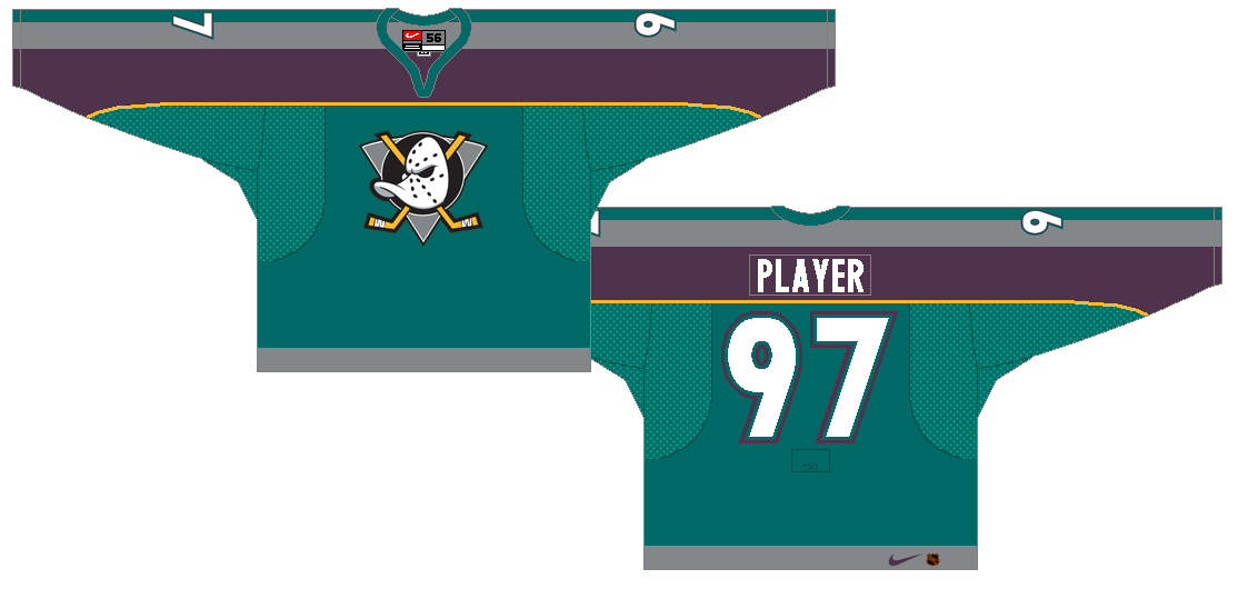 Mighty Ducks of Anaheim Uniform Alternate Uniform (1997/98-1998/99) -  SportsLogos.Net
