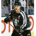Mighty Ducks of Anaheim (1998) Paul Kariya wearing Mighty Ducks of Anaheim alternate green uniform during 1997-98 season