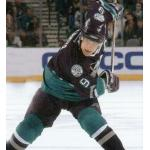 Mighty Ducks of Anaheim (2002) Paul Kariya wearing Mighty Ducks of Anaheim road purple uniform during 2001-02 season