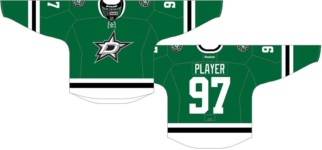 Dallas Stars Uniform Dark Uniform (2013/14-2016/17) -  SportsLogos.Net
