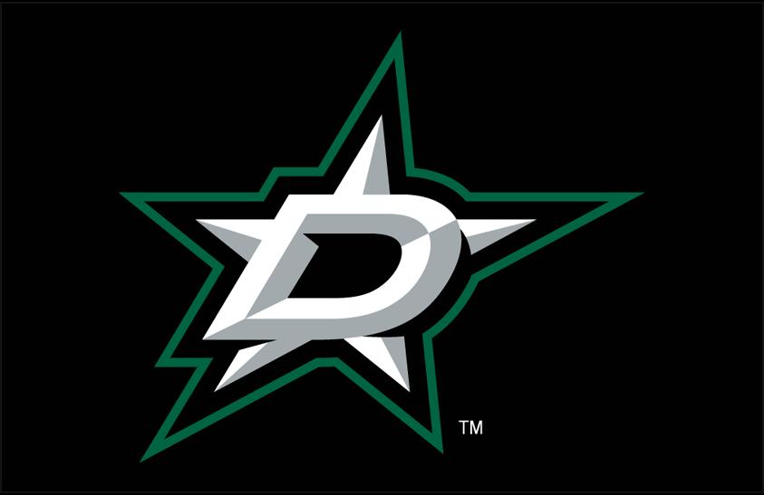 Dallas Stars Logo Primary Dark Logo (2013/14-Pres) - Dallas Stars primary logo on black SportsLogos.Net