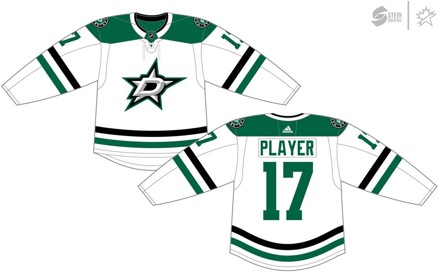 Dallas Stars Uniform Light Uniform (2017/18-Pres) - Adidas Jersey SportsLogos.Net