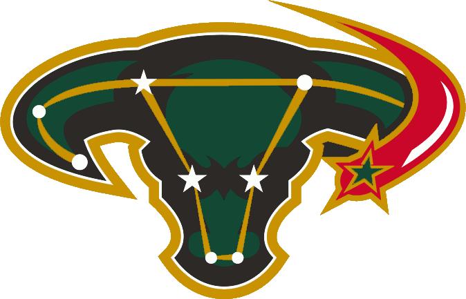 Dallas Stars Logo Alternate Logo (2003/04-2005/06) - A bull head in the shape of a constellation SportsLogos.Net