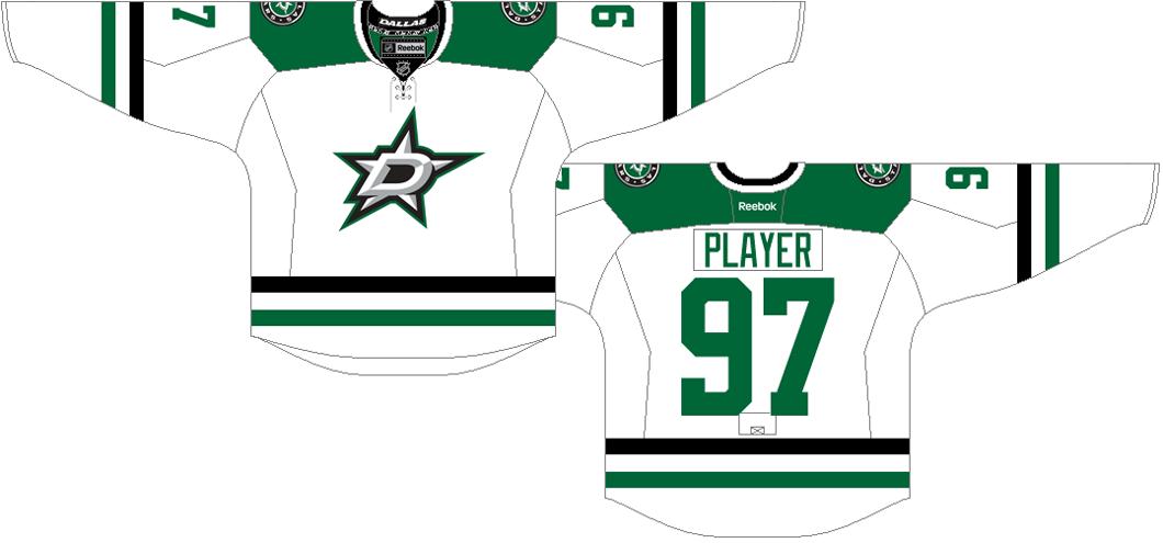 Dallas Stars Uniform Light Uniform (2013/14-2016/17) -  SportsLogos.Net