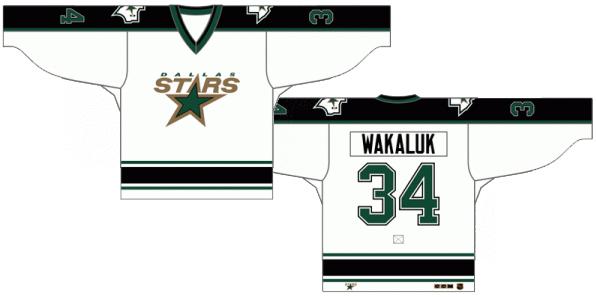 Dallas Stars Uniform Light Uniform (1994/95-1998/99) -  SportsLogos.Net