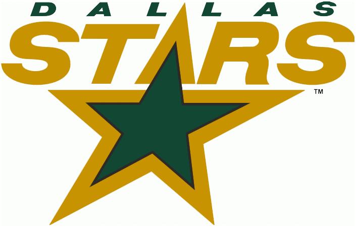 Dallas Stars Logo Primary Logo (1994/95-2012/13) - Stars in gold above a green star, shade of green darkened for the 1994-95 season SportsLogos.Net