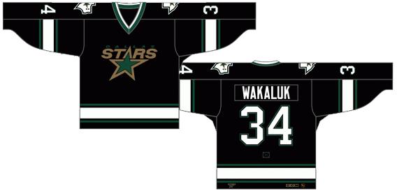 Dallas Stars Uniform Dark Uniform (1994/95-1998/99) -  SportsLogos.Net