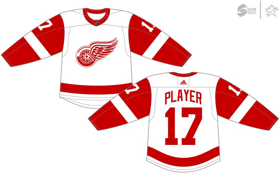 Detroit Red Wings Uniform Light Uniform (2017/18-Pres) - Adidas Jersey SportsLogos.Net