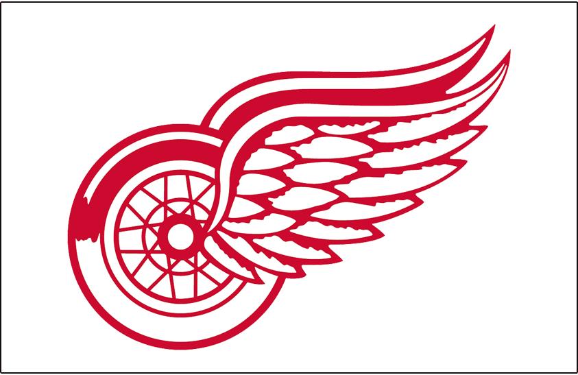 Detroit Red Wings Logo Jersey Logo (1983/84) - Worn on front of Detroit Red Wings home white jersey during 1983-84 season only SportsLogos.Net