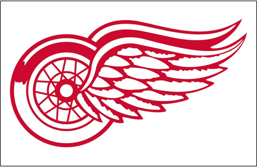 Detroit Red Wings Logo Jersey Logo (1972/73-1981/82) - Worn on front of Detroit Red Wings home white jersey from 1972-73 through 1981-82 seasons SportsLogos.Net