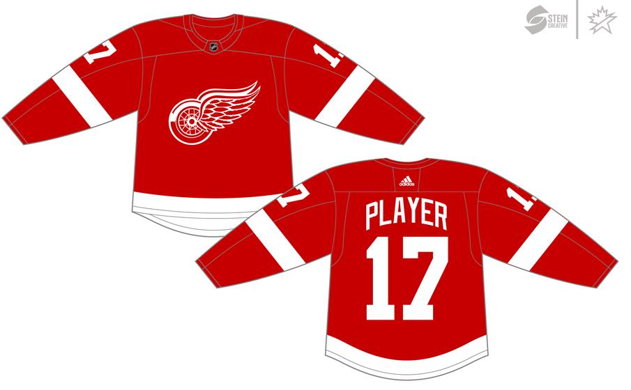 Detroit Red Wings Uniform Dark Uniform (2017/18-Pres) - Adidas Jersey SportsLogos.Net