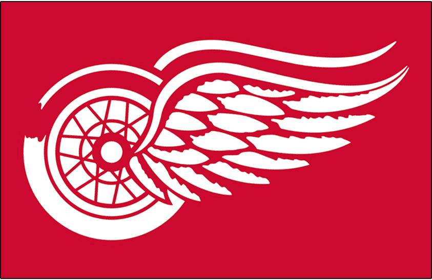 Detroit Red Wings Logo Jersey Logo (1948/49-1971/72) - Worn on front of Detroit Red Wings home and road red jersey from 1948-49 through 1971-72 seasons SportsLogos.Net