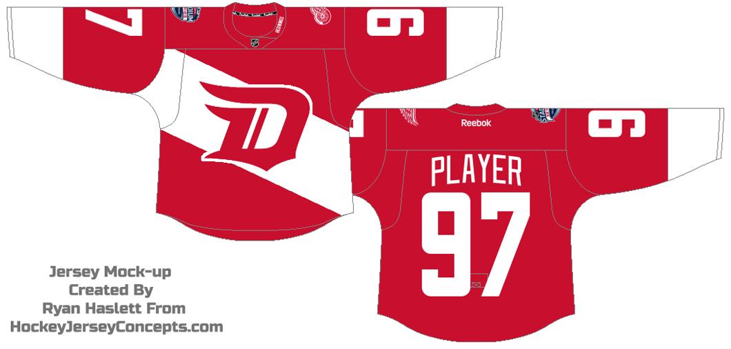 Detroit Red Wings Uniform Special Event Uniform (2015/16) - 2016 Stadium Series jersey SportsLogos.Net