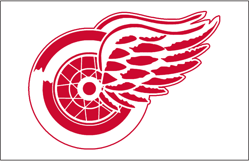 Detroit Red Wings Logo Jersey Logo (1934/35-1947/48) - Worn on front of Detroit Red Wings white jersey from 1934-35 through 1947-48 SportsLogos.Net