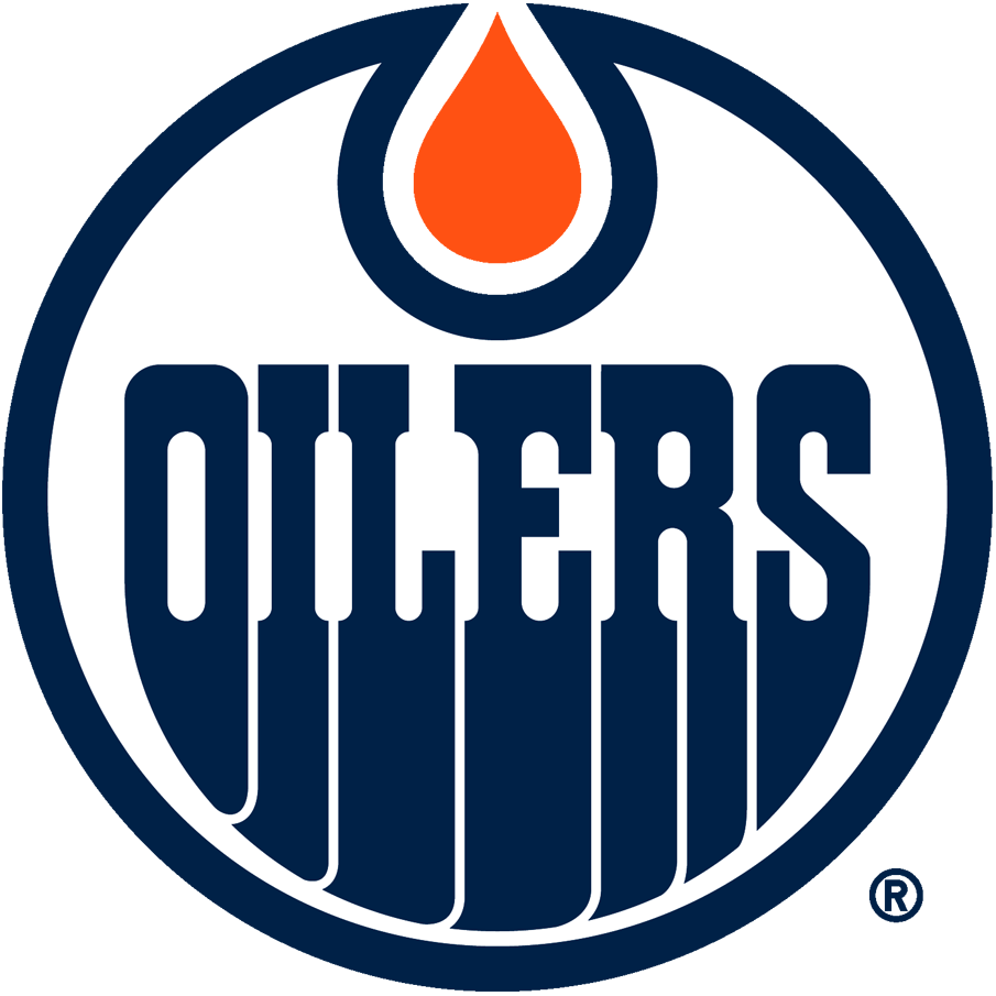 Edmonton Oilers Logo Primary Logo (2017/18-Pres) - The Edmonton Oilers change their team colours to a darker shade of blue and brighter shade of orange. SportsLogos.Net