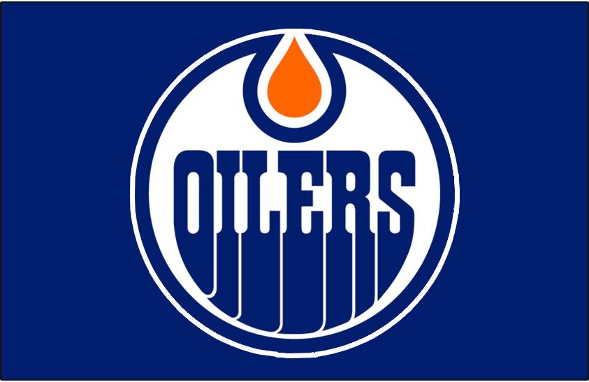 Edmonton Oilers Logo Jersey Logo (1986/87-1995/96) - Worn on front of the Edmonton Oilers road blue jersey from 1986-87 until 1995-96 SportsLogos.Net