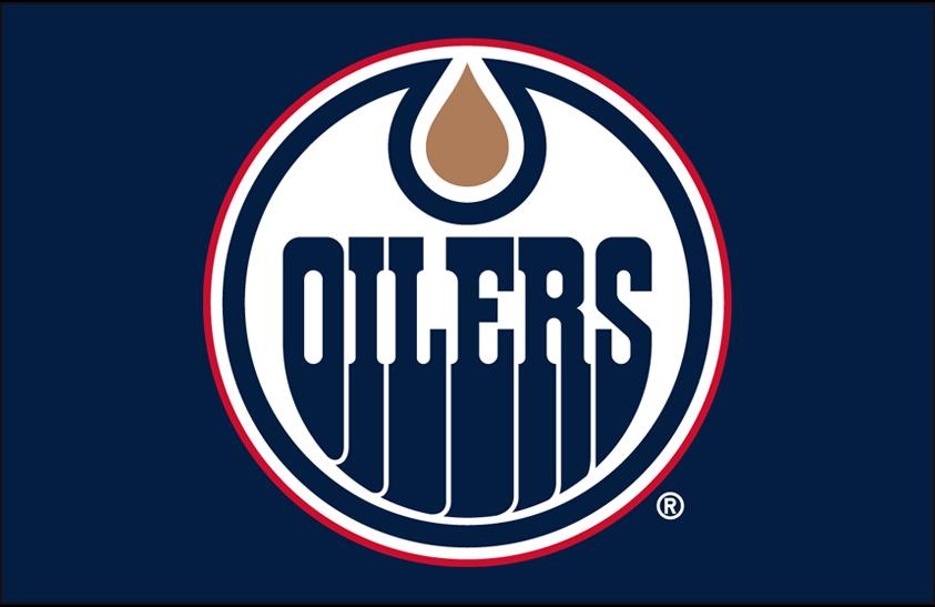Edmonton Oilers Logo Primary Dark Logo (1996/97-2010/11) - Edmonton Oilers primary logo on blue SportsLogos.Net
