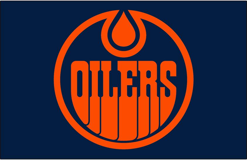Edmonton Oilers Logo Jersey Logo (2019/20-Pres) - Orange and navy blue version of Oilers classic logo, worn on front of Edmonton's blue alternate uniform since 2019-20 season SportsLogos.Net