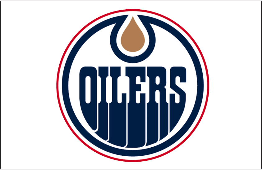 Edmonton Oilers Logo Jersey Logo (1996/97-2010/11) - Worn on front of the Edmonton Oilers white jersey from 1996-97 through 2010-11 SportsLogos.Net