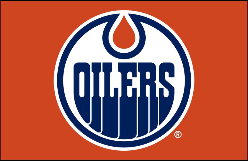 Edmonton Oilers Logo Primary Dark Logo (2011/12-2016/17) - Edmonton Oilers primary logo on orange SportsLogos.Net