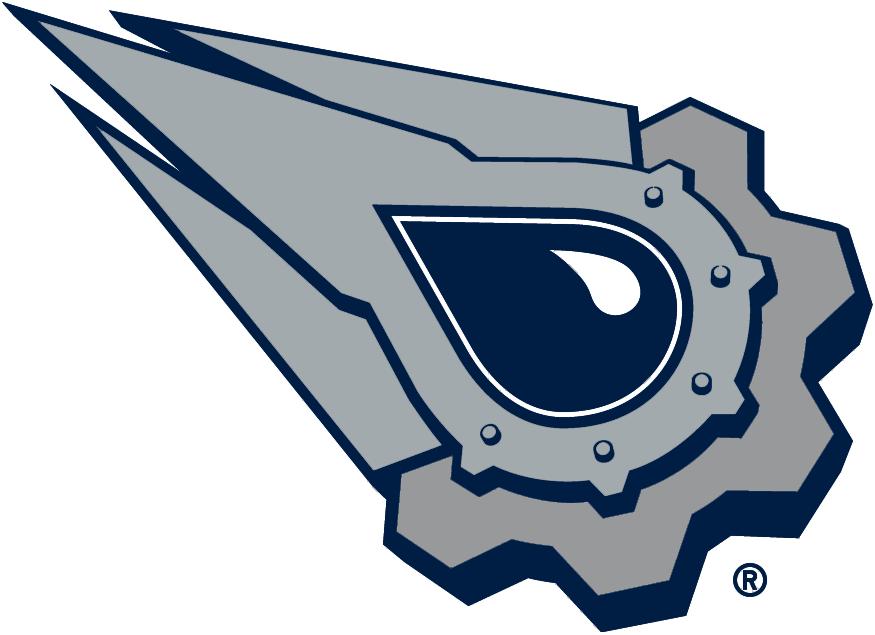Edmonton Oilers Logo Alternate Logo (2001/02-2006/07) - A blue oil drop streaking to the left SportsLogos.Net