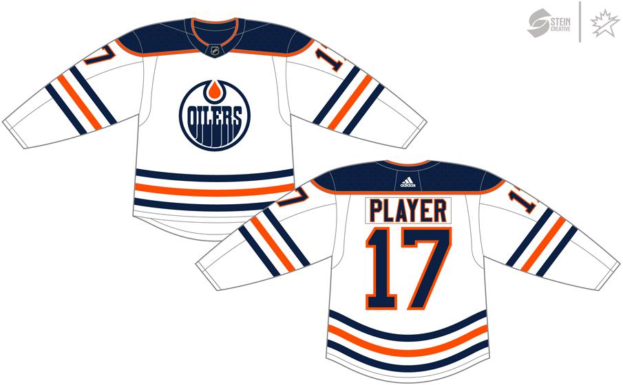 Edmonton Oilers Uniform Light Uniform (2017/18-Pres) - Adidas Jersey SportsLogos.Net