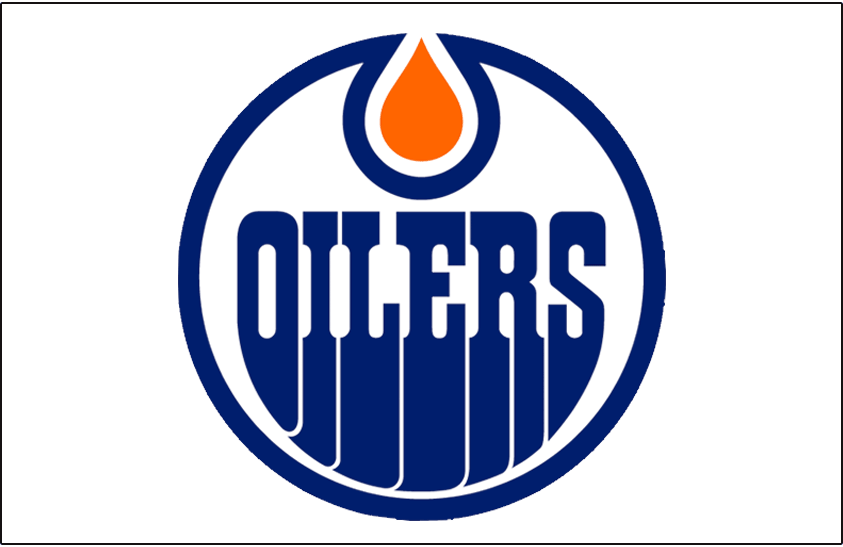 Edmonton Oilers Logo Jersey Logo (1986/87-1995/96) - Worn on front of the Edmonton Oilers home white jersey from 1986-87 until 1995-96 SportsLogos.Net