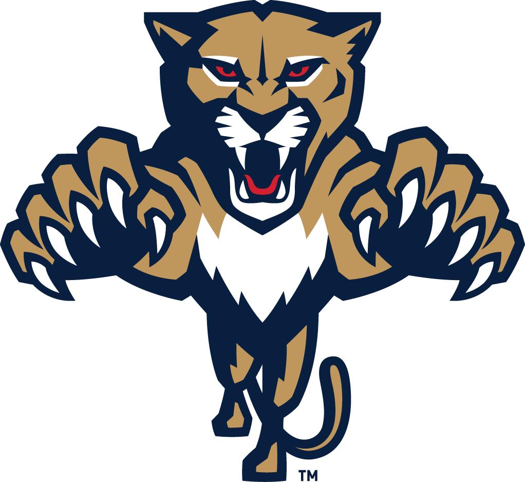 Florida Panthers Logo Alternate Logo (2016/17-Pres) - Modernized leaping panther logo, will be worn on player helmets SportsLogos.Net