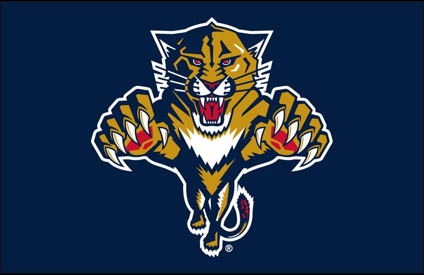 Florida Panthers Logo Primary Dark Logo (1999/00-2014/15) - Florida Panthers primary logo on blue SportsLogos.Net