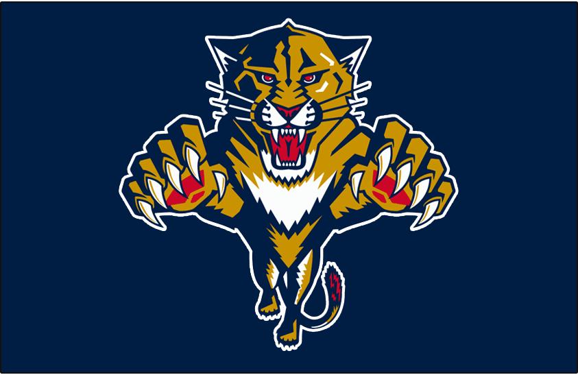 Florida Panthers Logo Jersey Logo (2003/04-2010/11) - Worn on the front of the Florida Panthers blue home jersey from 2003-04 until 2010-11 SportsLogos.Net