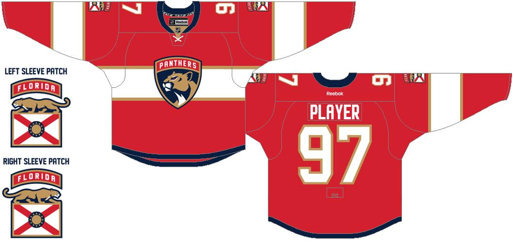 Florida Panthers Uniform Dark Uniform (2016/17) -  SportsLogos.Net