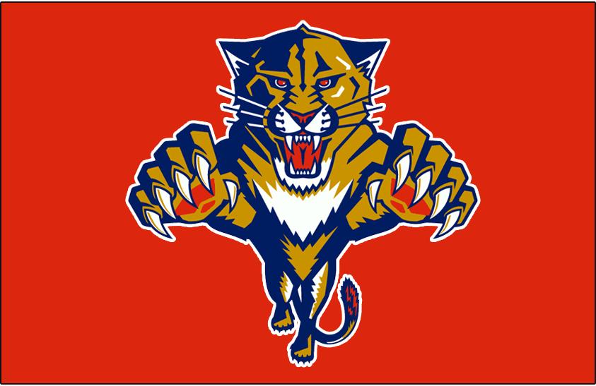 Florida Panthers Logo Jersey Logo (1993/94-1998/99) - Worn on the front of the Florida Panthers red jersey from 1993-94 through 1998-99 SportsLogos.Net