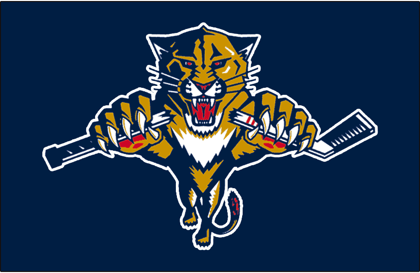 Florida Panthers Logo Jersey Logo (1999/00-2002/03) - Worn on the front of the Florida Panthers blue alternate jersey from 1999-2000 until 2002-03 SportsLogos.Net
