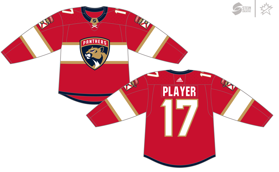 Florida Panthers Uniform Dark Uniform (2017/18-Pres) - Adidas Jersey SportsLogos.Net