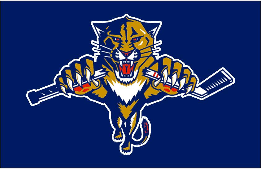 Florida Panthers Logo Jersey Logo (1998/99) - Worn on the front of the Florida Panthers blue alternate jersey in 1998-99 SportsLogos.Net