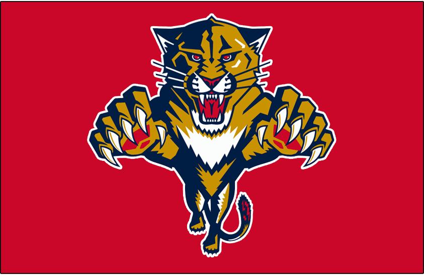 Florida Panthers Logo Jersey Logo (1999/00-2002/03) - Worn on the front of the Florida Panthers red jersey from 1999-2000 until 2002-03 SportsLogos.Net