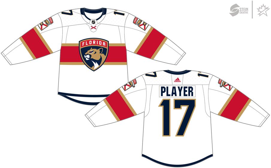 Florida Panthers Uniform Light Uniform (2017/18-Pres) - Adidas Jersey SportsLogos.Net