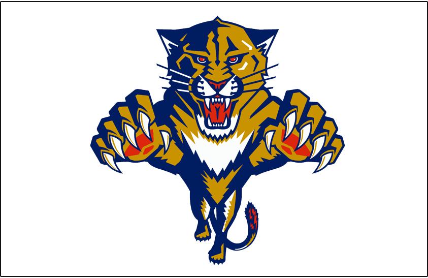Florida Panthers Logo Jersey Logo (1993/94-1998/99) - Worn on the front of the Florida Panthers white jersey from 1993-94 through 1998-99 SportsLogos.Net