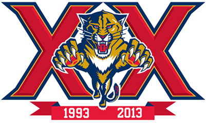 Florida Panthers Logo Anniversary Logo (2013/14) - 20th Anniversary logo SportsLogos.Net