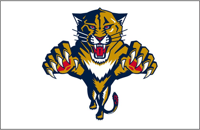 Florida Panthers Logo Jersey Logo (1999/00-2015/16) - Worn on the front of the Florida Panthers white jersey starting on 1999-2000 SportsLogos.Net
