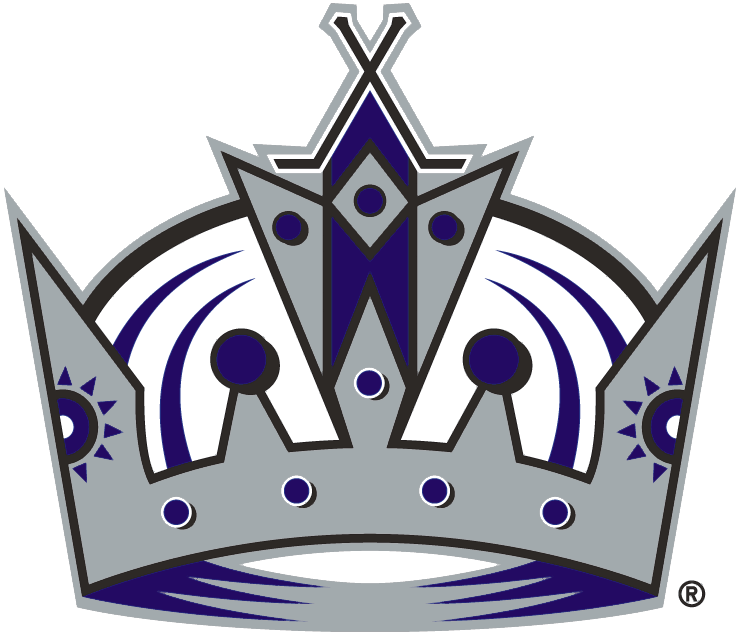 Los Angeles Kings Logo Primary Logo (2002/03-2010/11) - A silver and purple crown SportsLogos.Net