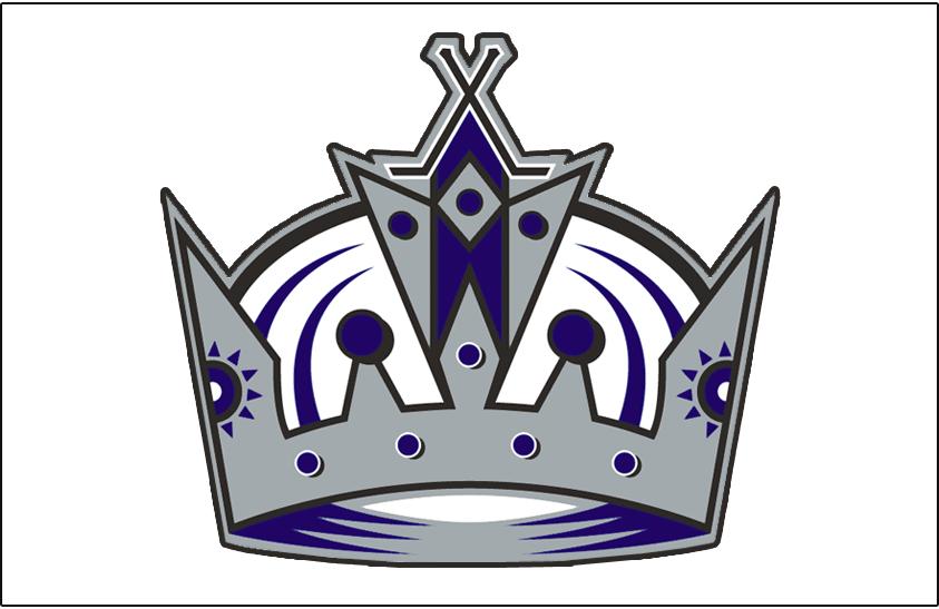 Los Angeles Kings Logo Jersey Logo (2002/03-2010/11) - Worn on the front of the Los Angeles Kings road white jersey from 2002-03 until 2010-11 SportsLogos.Net