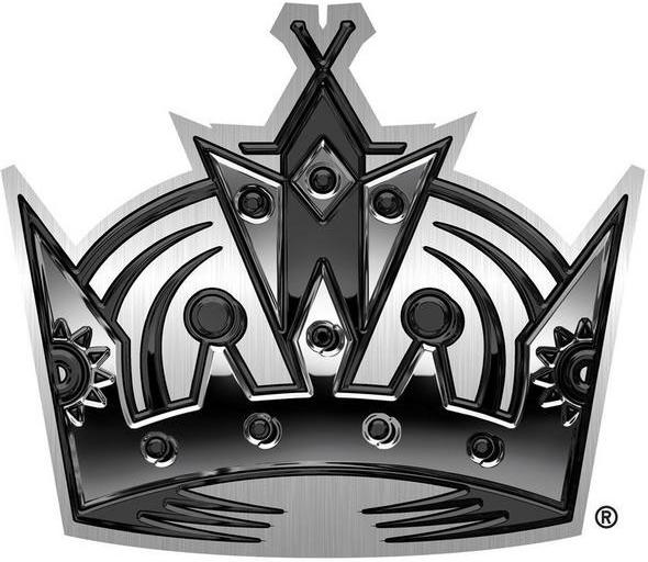 Los Angeles Kings Logo Special Event Logo (2013/14) - Kings Stadium Series chrome treated logo  SportsLogos.Net