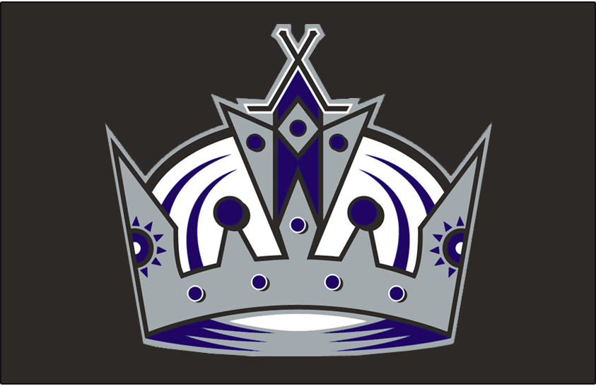 Los Angeles Kings Logo Jersey Logo (2002/03-2012/13) - Worn on the front of the Los Angeles Kings home black jersey from 2002-03 until 2010-11, swapped to their black alternate jersey for 2011-12 and 2012-13 SportsLogos.Net