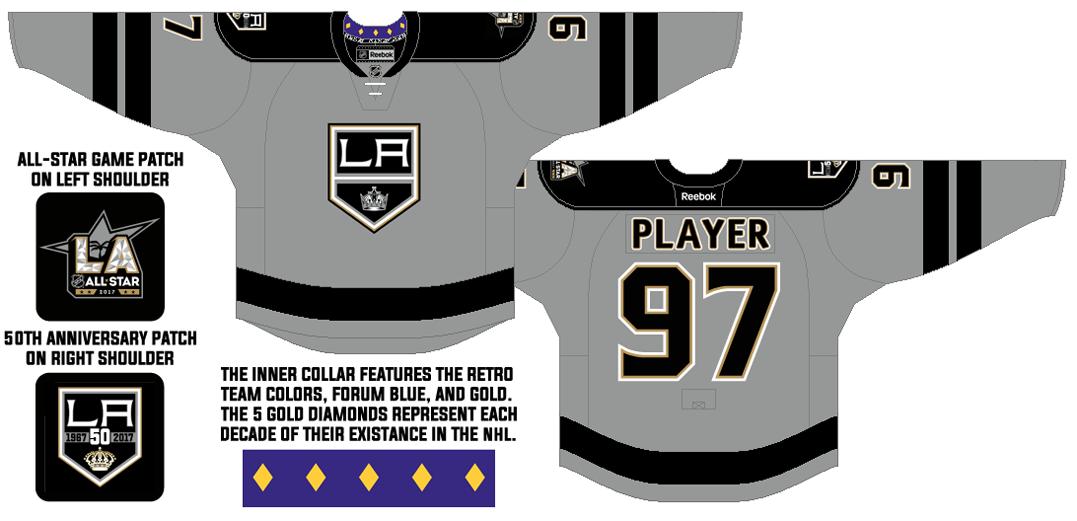 Los Angeles Kings Uniform Alternate Uniform (2016/17) - 50th Anniversary alternate jersey SportsLogos.Net
