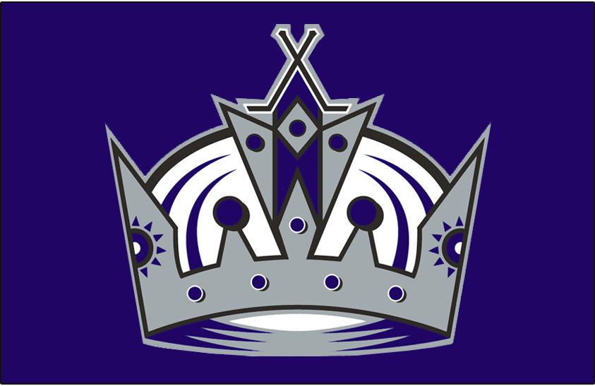 Los Angeles Kings Logo Jersey Logo (1999/00-2001/02) - Worn on the front of the Los Angeles Kings purple alternate jersey from 1999-2000 until 2001-02 SportsLogos.Net