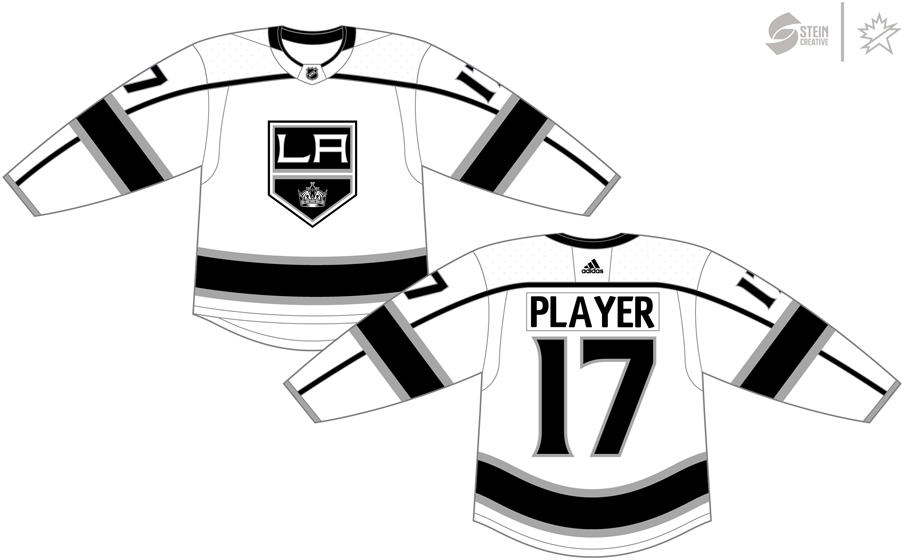 Los Angeles Kings Uniform Light Uniform (2017/18-Pres) - Adidas Jersey SportsLogos.Net