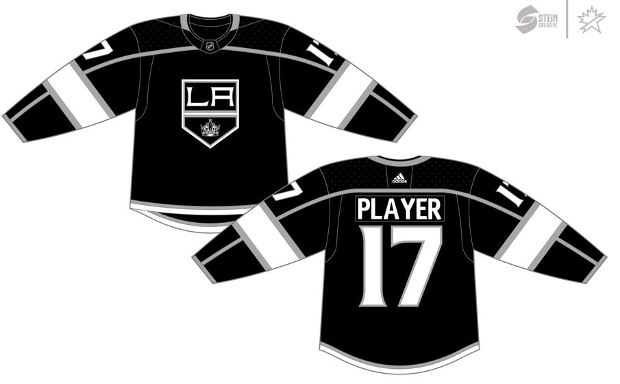 Los Angeles Kings Uniform Dark Uniform (2017/18-Pres) - Adidas Jersey SportsLogos.Net